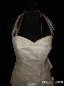 Rembo Styling - Bustier Agneta et jupe boule Alias (taffetas tulle perles tour de cou)