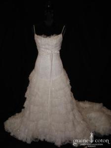 Mariées de Paris - Robe taille basse en tulle et dentelle (taille empire)