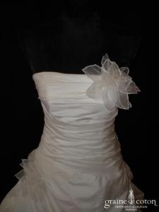 Les mariées d'Elodie - Baltimore (drapé façon soie sauvage)