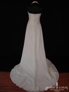 Pronovias - Himalaya (mousseline de soie fluide tour de cou drapé taille empire)