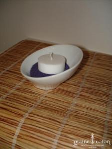 Petite coupelle biseautée en porcelaine blanche pour usage photophore ou vase
