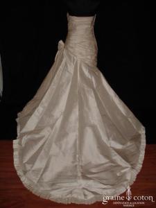 Pronovias - Altéa (drapé soie sauvage taille basse)