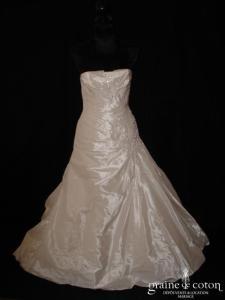 Pronovias - Reyes (taffetas drapé taille basse perles)