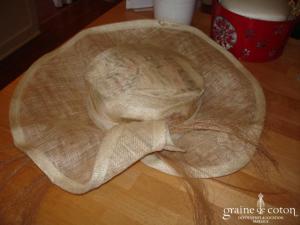 Chapeau en sisal ivoire
