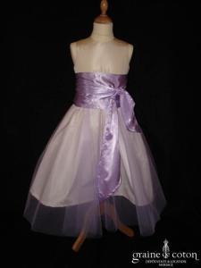 Graine de coton - Jupon / sur jupe en tulle parme pour robe de demoiselle d'honneur