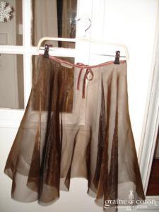 Graine de coton - Jupon / sur jupe en organza chocolat pour robe de demoiselle d'honneur