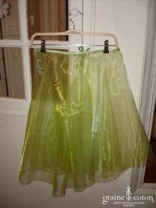 Graine de coton - Jupon / sur jupe en organza vert anis pour robe de demoiselle d'honneur