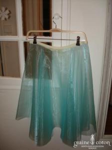 Graine de coton - Jupon / sur jupe en organza turquoise pour robe de demoiselle d'honneur