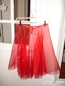 Graine de coton - Jupon / sur jupe en organza rouge pour robe de demoiselle d'honneur