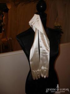 Gants longs ivoire