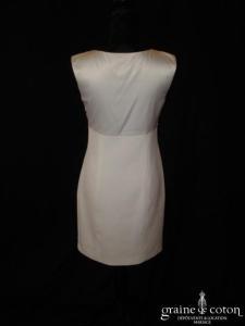 Apostrophe - Robe ivoire clair courte (bretelles civile satin)