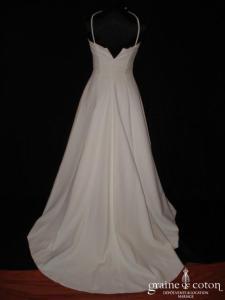 Cymbeline - Robe bustier blanche en crêpe (bretelle tour de cou)