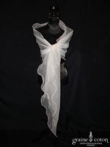 Lambert Créations - Étole en organza ivoire