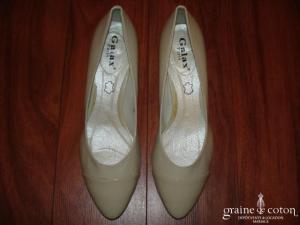 Galax - Escarpins (chaussures) en cuir ivoire