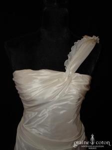Lambert Créations - Léa (taffetas drapé taille empire bretelle)