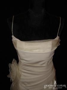 Lambert Créations - Ophélie (taffetas gaze de soie bretelles drapé sirène)