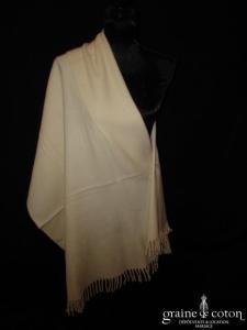 Mary Kimberley - Étole longue en laine ivoire