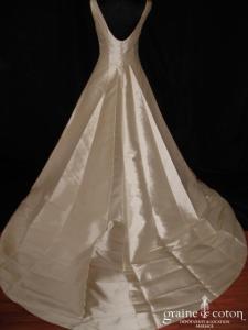 Pronuptia Jean Cadillon - Robe une pièce en mikado de soie ivoire (bretelles)