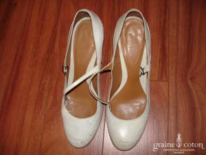 Parcours Paris - Babies (chaussures) en cuir ivoire