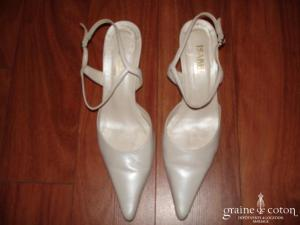 Isabel - Escarpins (chaussures) Nina en cuir ivoire