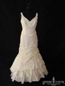 Mariage Mariages - Robe une pièce en taffetas ivoire (sirène bretelles)