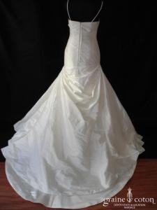 Pronovias - Diamante (soie sauvage drapé bretelles taille empire V sirène)