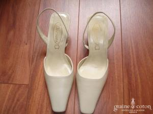 Doriani - Escarpins (chaussures) en cuir ivoire