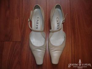 Carys - Escarpins (chaussures) en cuir ivoire