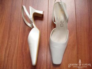 Doriani - Escarpins (chaussures) en cuir blanc