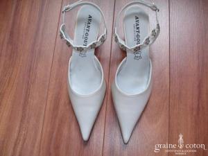 Avant Goût - Escarpins (chaussures) en ivoire nacré