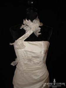 Lambert Créations - Daliane ivoire (soie tour de cou sirène fourreau bretelles)