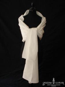 Cymbeline - Étole en taffetas ivoire