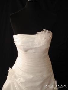 Les mariées d'Elodie - Baltimore (taffetas drapé façon soie sauvage)