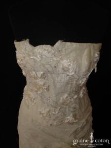 Mariella Burani (créatrice italienne) - Robe sirène en taffetas de soie ivoire