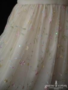 Cinderella - Robe de demoiselle d'honneur en organza brodé