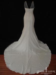 Mariées de Paris - Robe sirène en tulle et dentelle ivoire (bretelles taille empire fourreau)