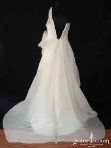 Création Germano Reale - Robe en organza plissé (bretelle)