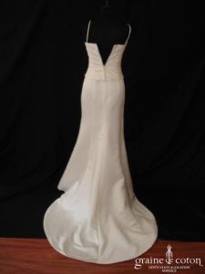 Pronuptia - Miss (sirène fourreau drapé satin bretelles)