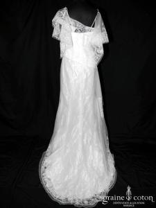 Mariées de Paris - Gala (dentelle drapé fluide bohême bretelles manches)