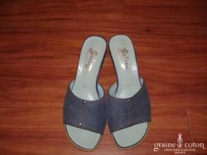 Mules (chaussures) façon jean