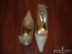 Georgia Rose - Escarpins (chaussures) Raso Novia en satin ivoire