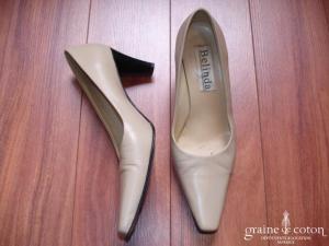 Belinda - Escarpins (chaussures) en cuir beige