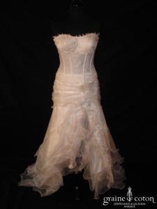 Mariages et mariage - Sonia (volutes organza courte devant dentelle)