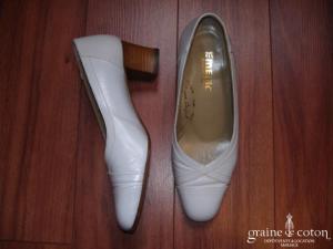 Emeric - Escarpins (chaussures) en cuir blanc