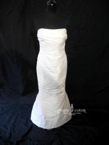 Linéa Raffaëlli - Bruid Kleed (soie sauvage drapée fourreau sirène)