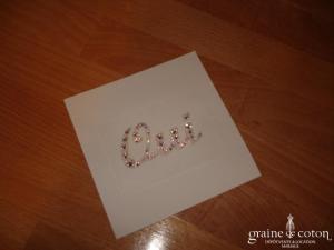 Au fil perlé - Bijou de peau Oui en cristal de Swarovski