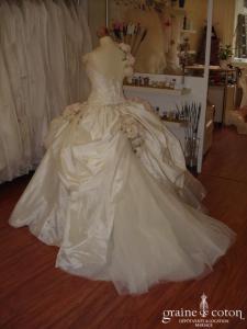 Courman (couturier des Miss France) - Robe de défilé (taffetas)