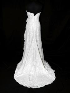 Pronovias - Turner (dentelle drapé fourreau courte devant)