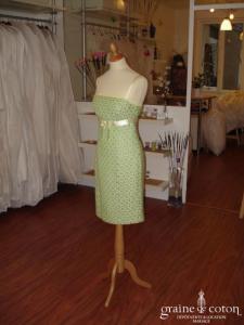 Helline - Robe courte verte