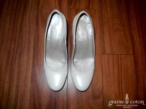 Perlato - Chaussures en cuir ivoire nacré
